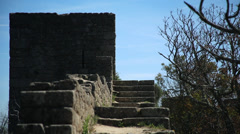 Castel wall , Castelo Branco Portugal Stock Footage