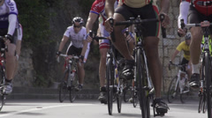 Cycle race in slow motion Stock Footage