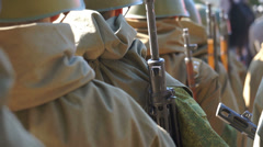 March-past soldiers Stock Footage