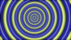 Psychedelic hypnotic circles seamless loop - 1080p Stock Footage