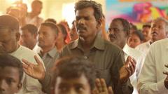 Indian People Praying - stock footage