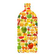 Stock Photo of Silhoette made from various fruits and vegetables