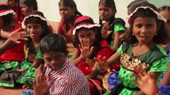 Indian Children Waving Hands - stock footage
