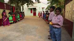 Indian Children Preparing to Celebrate - stock footage