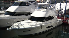 Luxury boats docked in Miami  Stock Footage