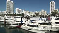 Exhibition area at Miami International Boat Show  Stock Footage