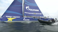 Stock Video Footage of Esimit Europa participating at Kieler Woche regatta
