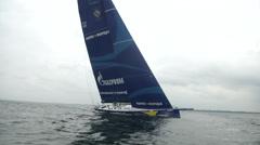Esimit Europa participating at Kieler Woche regatta  Stock Footage