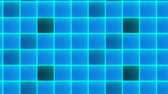 Blue abstract loop motion background, cube Stock Footage