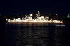 Russian cruiser Stock Photos