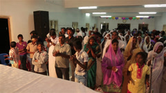 Indian People Singing and Applauding - stock footage