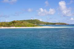Coast of Antigua - stock photo