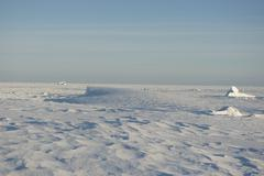 snowy winter in the antarctic wilderness. - stock photo