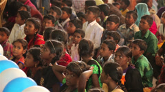 Indian Children Paying Attention - stock footage