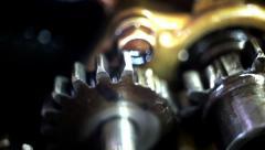 Broken gear teeth Stock Footage