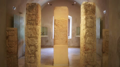 Mayan carved stones Stock Footage