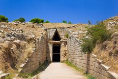 Stock Photo of Treasury in Mycenae town, Greece