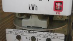 Electricity meter - stock footage
