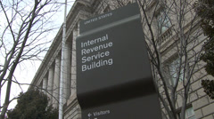IRS Sign Stock Footage