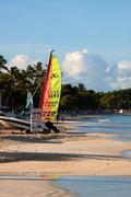 Dickenson Bay, Antigua - stock photo