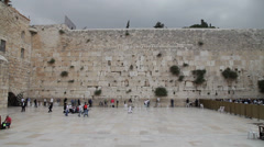 Wailing Wall in Jerusalem. old town. Stock Footage