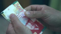 Recount of money Stock Footage