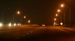 Miami expressway ilumination Stock Footage