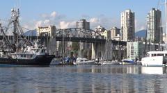 Vancouver - Granville Island Harbor - 14 Stock Footage