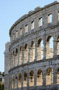 Roman amphitheater of Pula (Croatia) Stock Photos