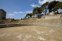 Roman amphitheater in Pula (Croatia) Stock Photos