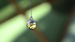 Shinning cristal ball hanging 01 Stock Footage