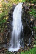 waterfall in Val di sole - stock photo