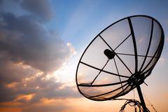 Televiestintä satelliittiantenni Kuvituskuvat