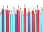 Stock Photo of colorful pencils isolated on white
