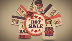 Hot sales promotion splash screen Stock Footage