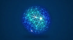 Abstract glowing global communication network concept - stock footage
