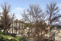Celsus library in ancient town of ephesus, turkey Stock Photos