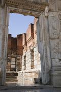 ancient greek town of ephesus in turkey - stock photo
