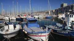 Toulon Harbor France Stock Footage