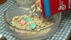 Bowl of Cereal, Grains, Breakfast Foods Stock Footage