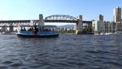 Vancouver - False Creek & Burrard Bridge - 01 Stock Footage