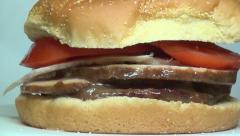 Roast Beef Sandwich, Lunch, Junk Food, Fast Food Stock Footage