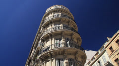 Building in Marseille Stock Footage