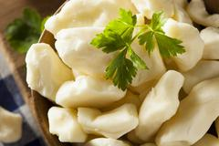 white dairy cheese curds - stock photo