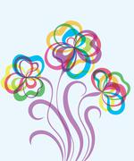 Decorative EPS10 background with abstract flowers - stock illustration