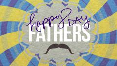 Fathers day card animated. Stock Footage