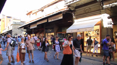Shops on Ponte Vecchio Bridge Stock Footage