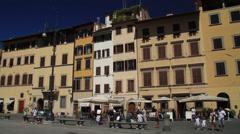 Buildings in Piazza della Signoria Stock Footage