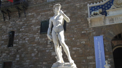 Replica of Michelangelo's David Stock Footage