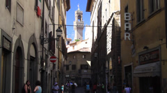 Alleyway In Florence Stock Footage